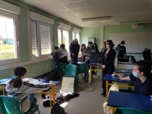 Tournage village Amboise Natacha Reigner et Fabienne Carat action enfance cinema